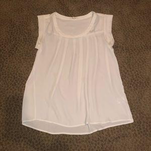 Classic sleeveless white top